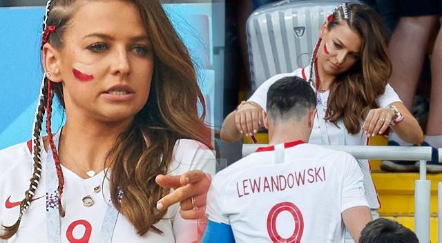 Anna Lewandowska bez Photoshopa i filtrów kibicuje na trybunach