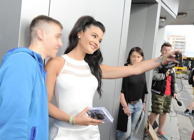 Honorata Skarbek na spotkaniu z fanami