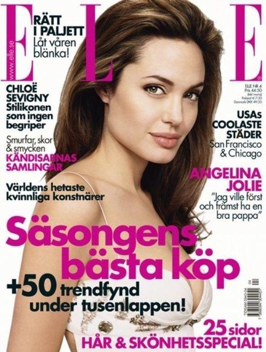 Angelina Jolie na okładkach Elle