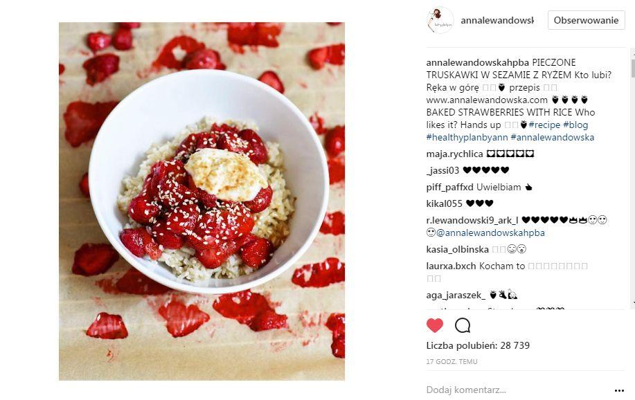 Anna Lewandowska pokazała TO na obiad, a fanki dopytują, czy karmi piersią