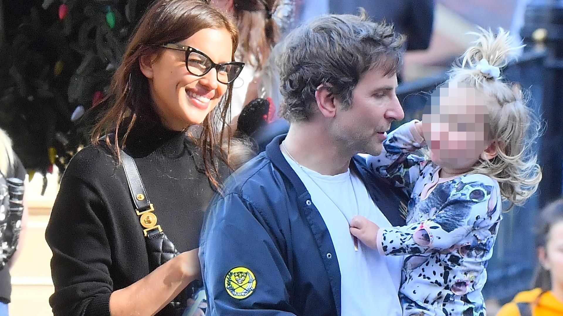 Irina Shayk i Bradley Cooper z córeczką na spacerze (ZDJĘCIA)