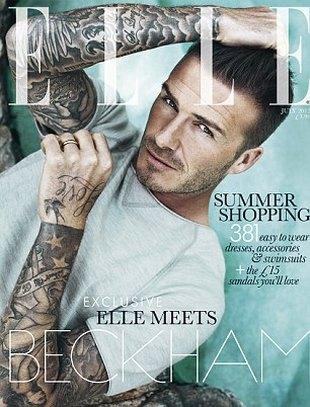 David Beckham – pierwszy mężczyzna na okładce Elle (FOTO)