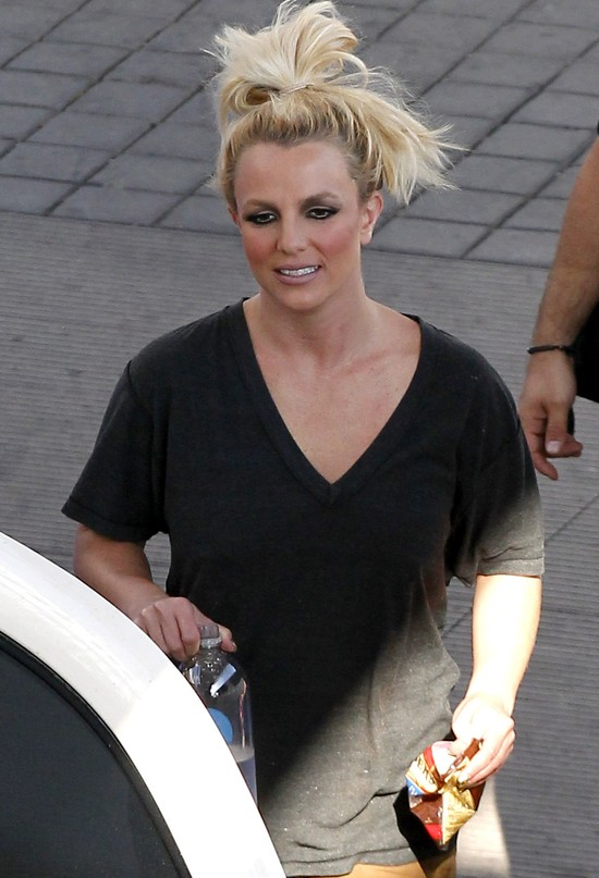 Britney Spears po sesji zdjęciowej