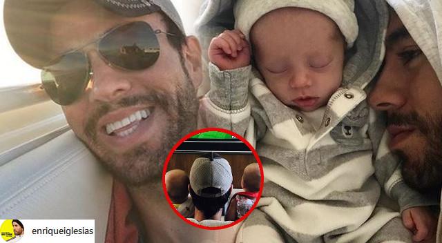 Enrique Iglesias ogląda mecz z BLIŹNIAKAMI. Ale urosły! (Instagram)