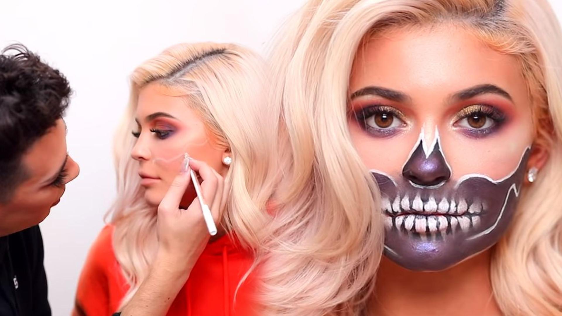Makijaż na Halloween Kylie Jenner – James Charles namalował szkielet (VIDEO)