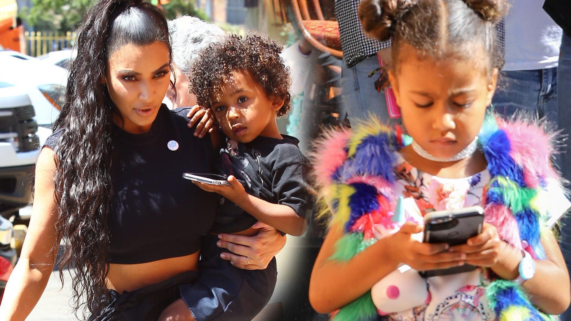 Tak Kim Kardashian psuje dzieciom wzrok (ZDJĘCIA)