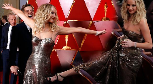 Jennifer Lawrence UPIŁA się na Oscarach? (ZDJĘCIA)