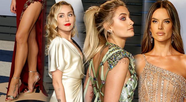 Vanity Fair Oscar Party – Miley Cyrus, Paris Jackson, piękne modelki (ZDJĘCIA)