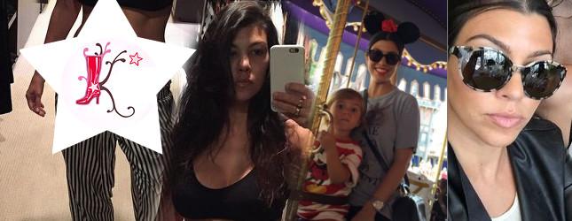 Kourtney Kardashian pokazała brzuch po ciąży (Insta)