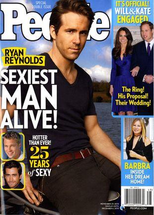 Ryan Reynolds najseksowniejszym żyjącym mężczyzną (FOTO)