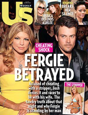 Josh Duhamel zdradził Fergie ze striptizerką