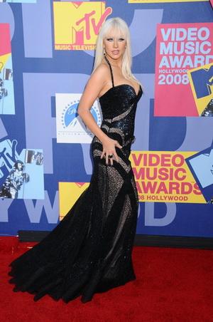 Christina Aguilera głosuje