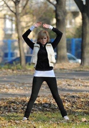 Agnieszka Popielewicz nie poci sie na siłowni (FOTO)