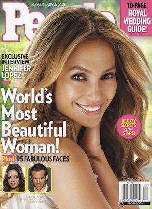 Jennifer Lopez najpiękniejszą kobietą na świecie