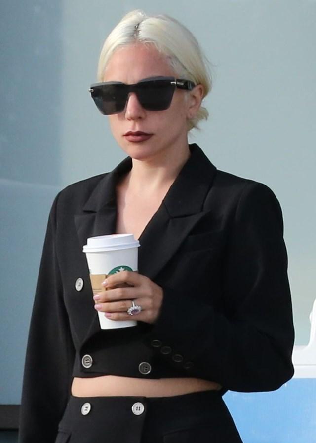 PREMIUM EXCLUSIVE Watch your door, Gaga!