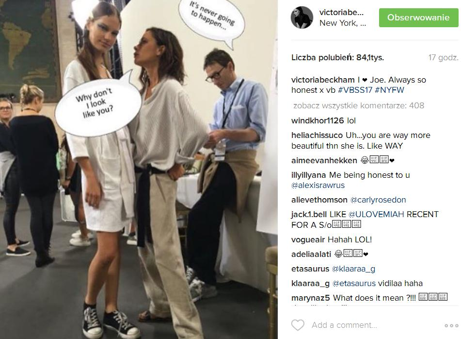 Internet oburzony wyglądem modelek na pokazie Victorii Beckham