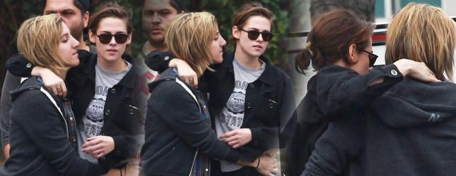 Kristen Stewart w miłosnym uścisku ze swoją dziewczyną
