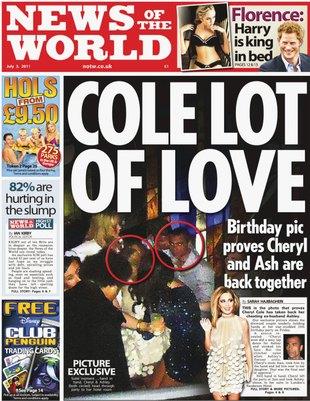 Były mąż Cheryl Cole był na jej urodzinowym przyjęciu