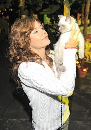 Ania Janocha z kotkiem na salonach (FOTO)