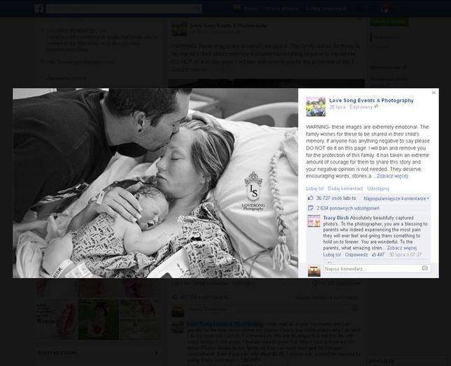 Ich córka zmarła. Poprosili o sesję zdjęciową na pożegnanie