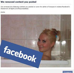 Facebook ocenzurował… łokieć