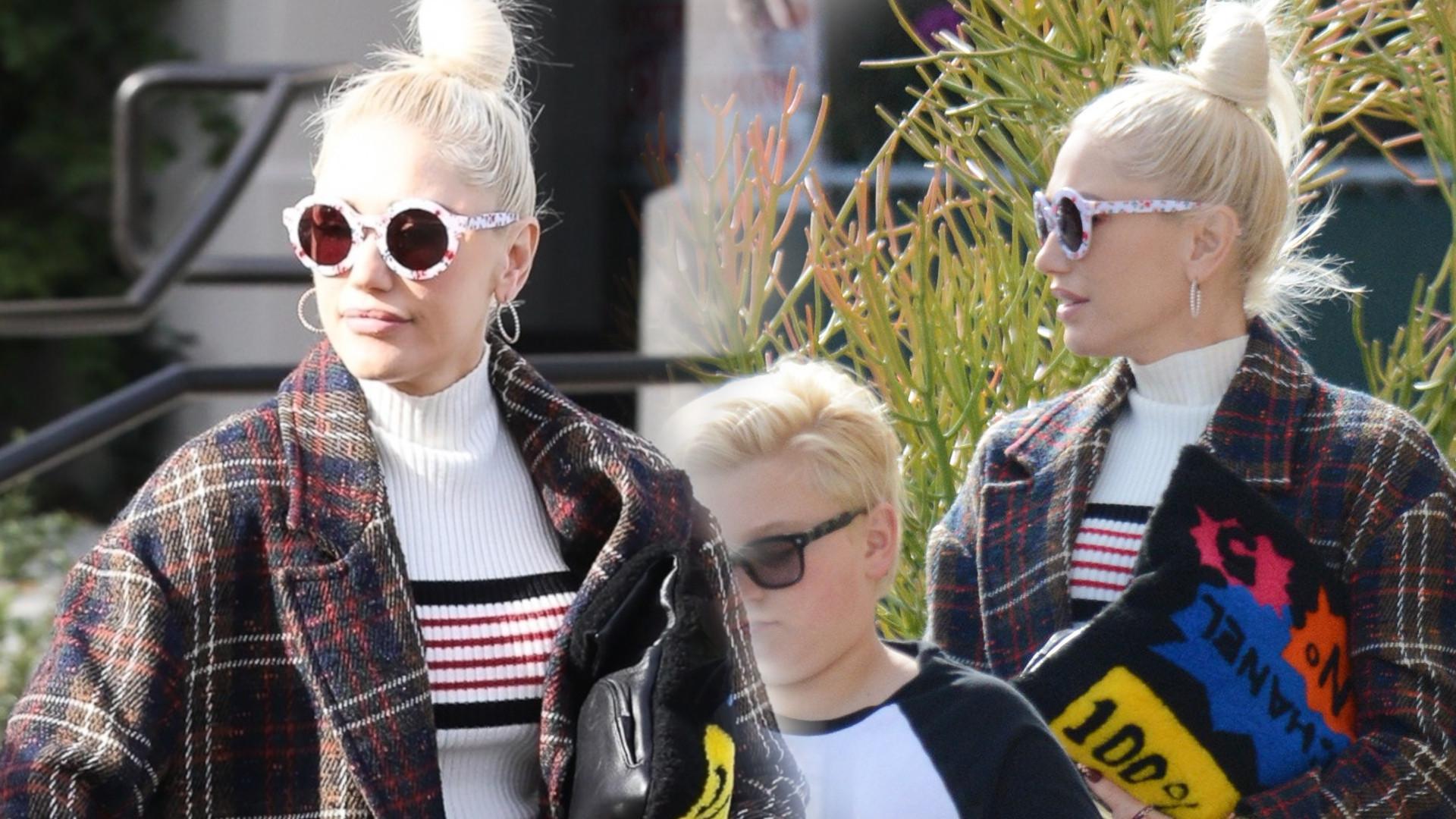 Wystylizowana Gwen Stefani zabrała synów do kościoła (ZDJĘCIA)