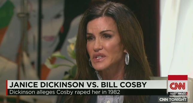 Dickinson: On jest świnią, potworem, zgwałcił mnie!