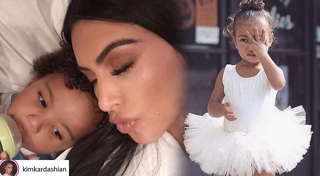 Kim uczesała Sainta tak, że wygląda jak Nori (Instagram)