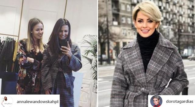 Anna Lewandowska i Dorota Gardias w IDENTYCZNYM płaszczu! Znamy markę i cenę