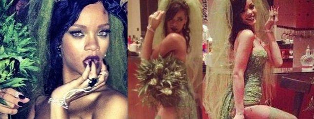 Rihanna w kostiumie panny młodej na haju (FOTO)