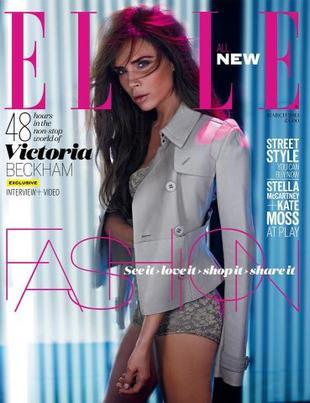 Victoria Beckham na okładce Elle (FOTO)