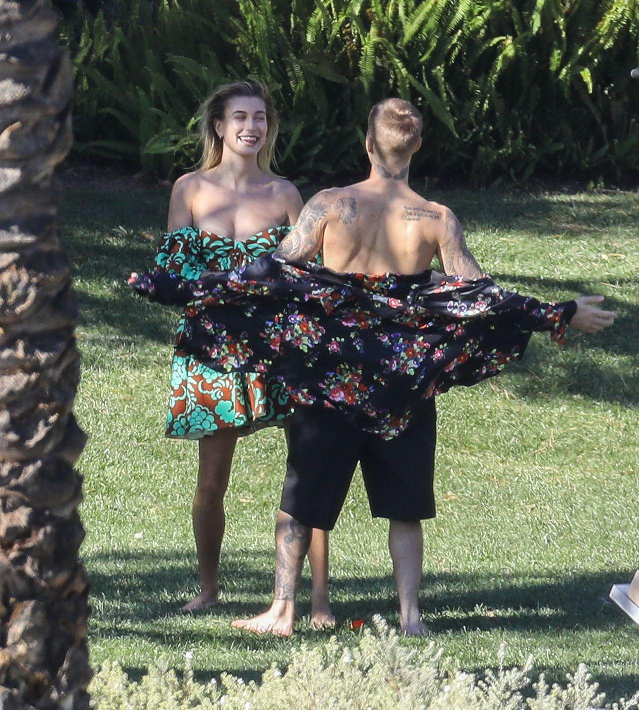 Justin Bieber i Hailey Baldwin podczas sesji zdjęciowej