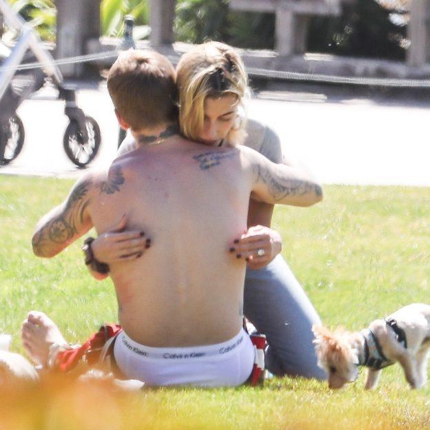 *EXCLUSIVE* A downcast Justin Bieber finds comfort in Wife Hailey Baldwin Justin Bieber, Hailey Baldwin
