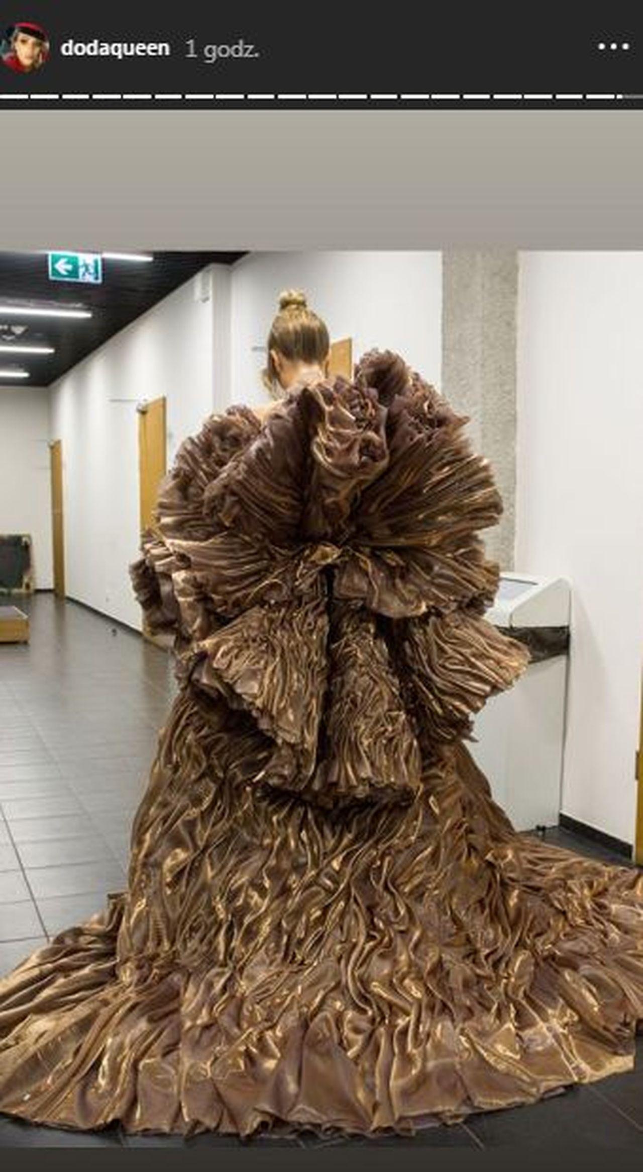 doda suknia patrycja kujawa występ filharmonia Instagram