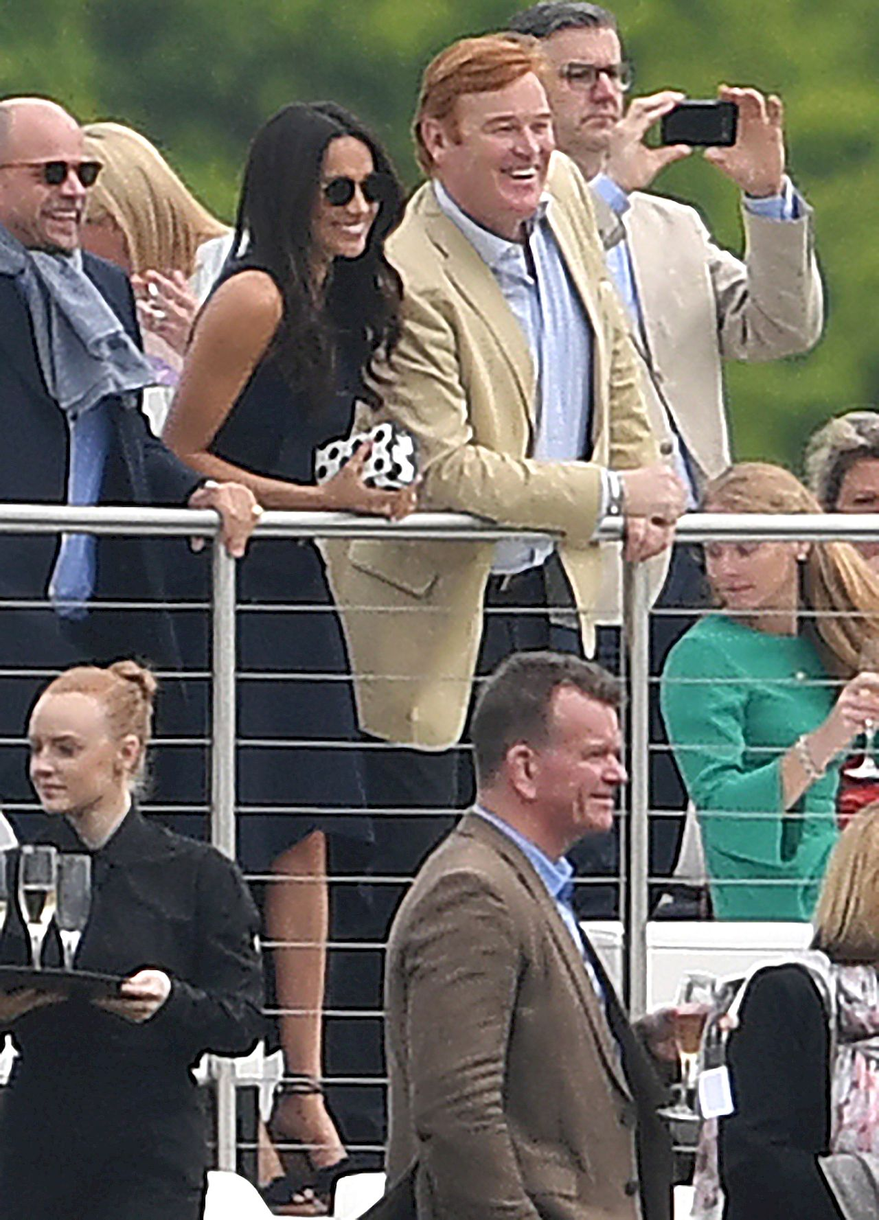 Meghan Markle watches Prince Harry play polo
