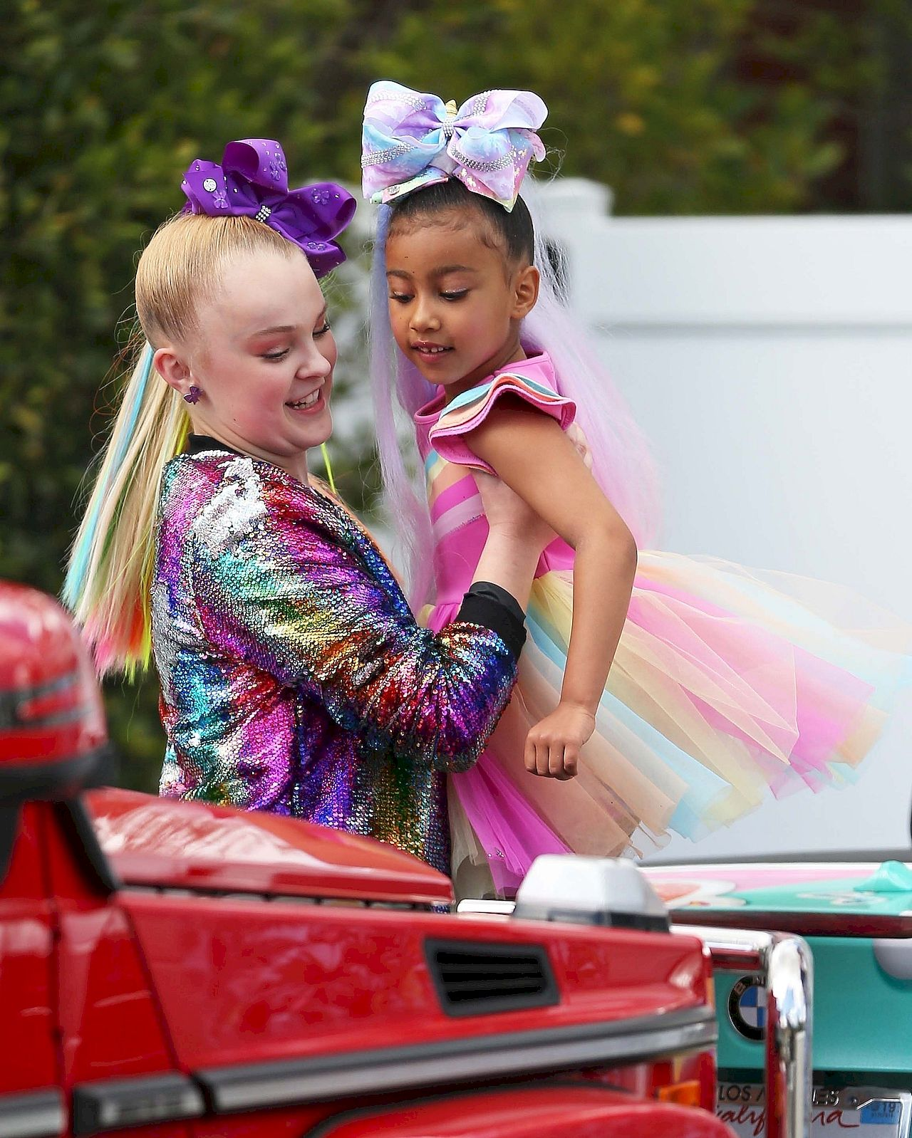 *EXCLUSIVE* North West and Kim Kardashian meet Youtube Star JoJo Siwa ahead of video collaboration **WEB MUST CALL FOR PRICING** JoJo Siwa, North West