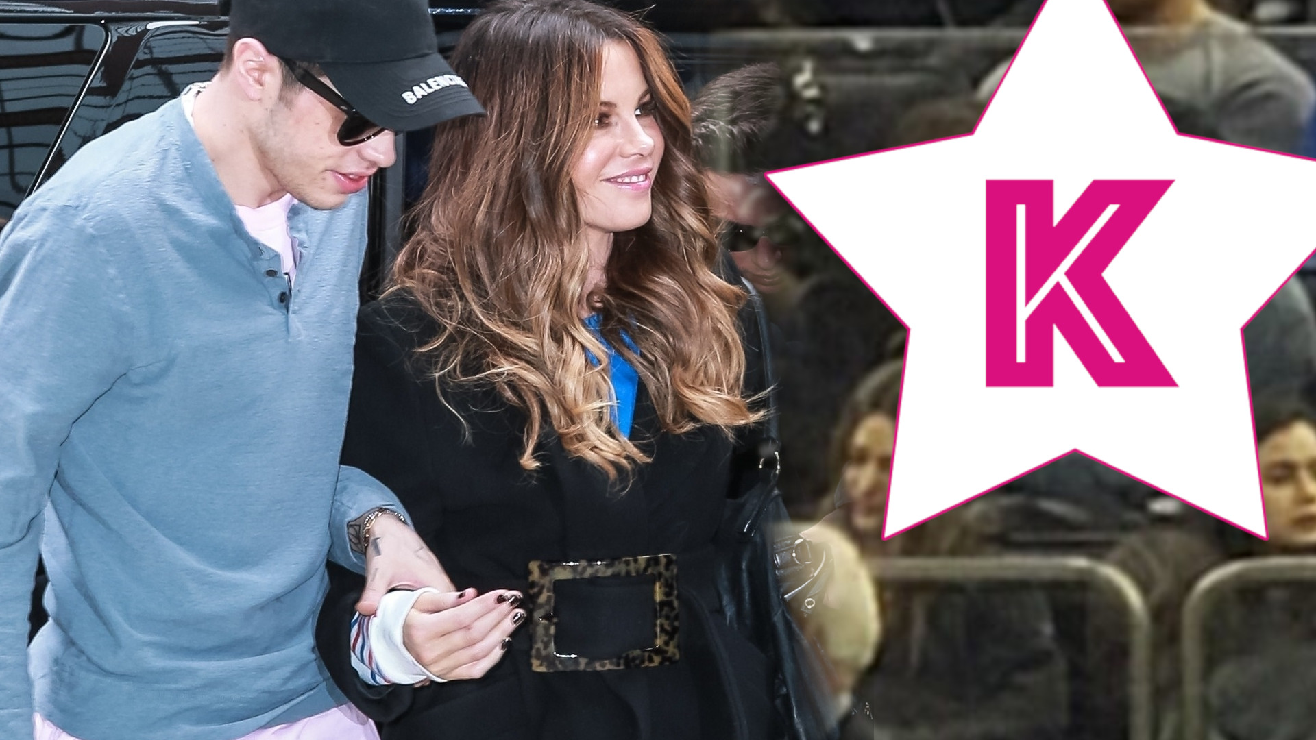 Pete Davidson i 20 lat starsza Kate Beckinsale CAŁUJĄ się na trybunach