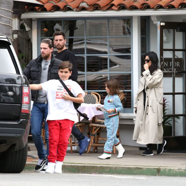 Scott Disick And Kourtney Kardashian Leave In Separate Cars After Lunch With Sofia In Santa Barbara