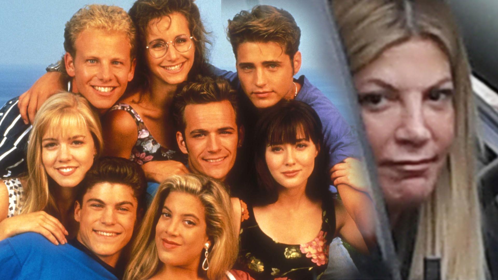 Tori Spelling przybita po śmierci Luke'a Perry'ego, przyjaciela z lat Beverly Hills 90210