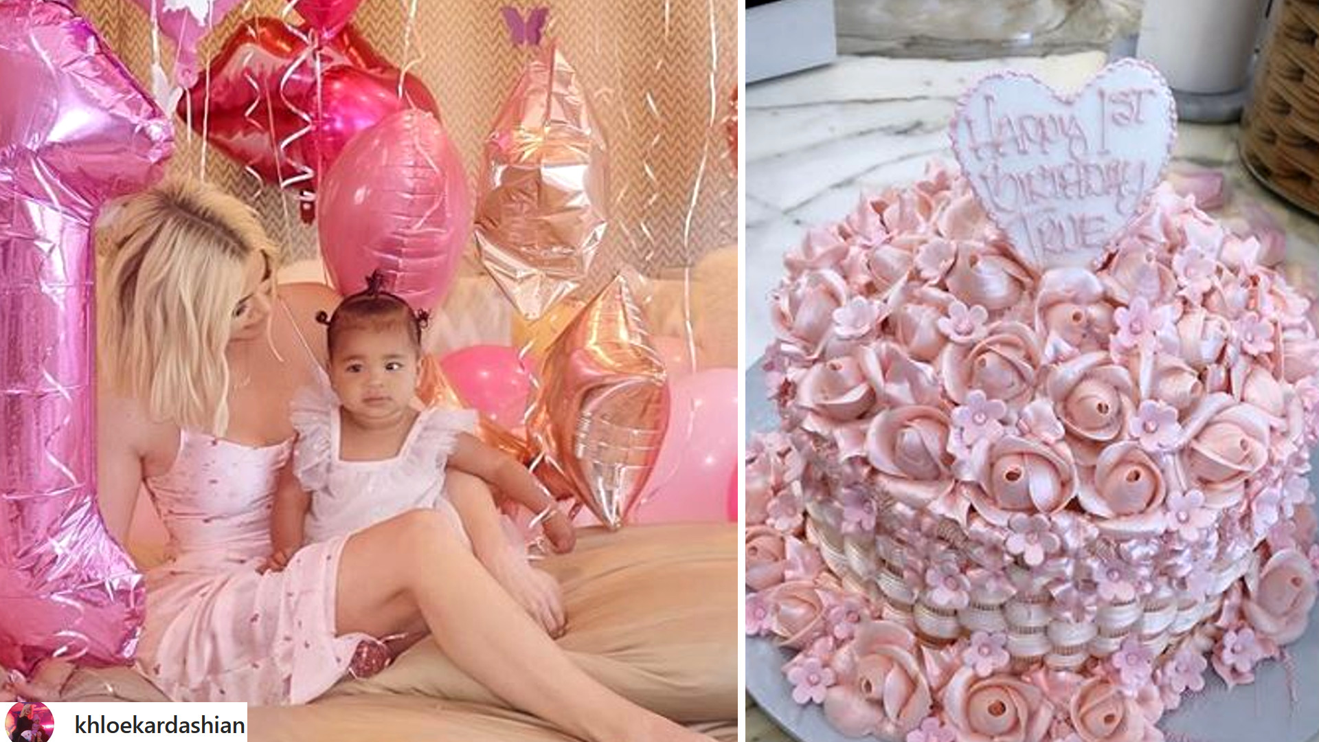 WOW! Khloe Kardashian pokazała zdjęcia z imprezy urodzinowej True