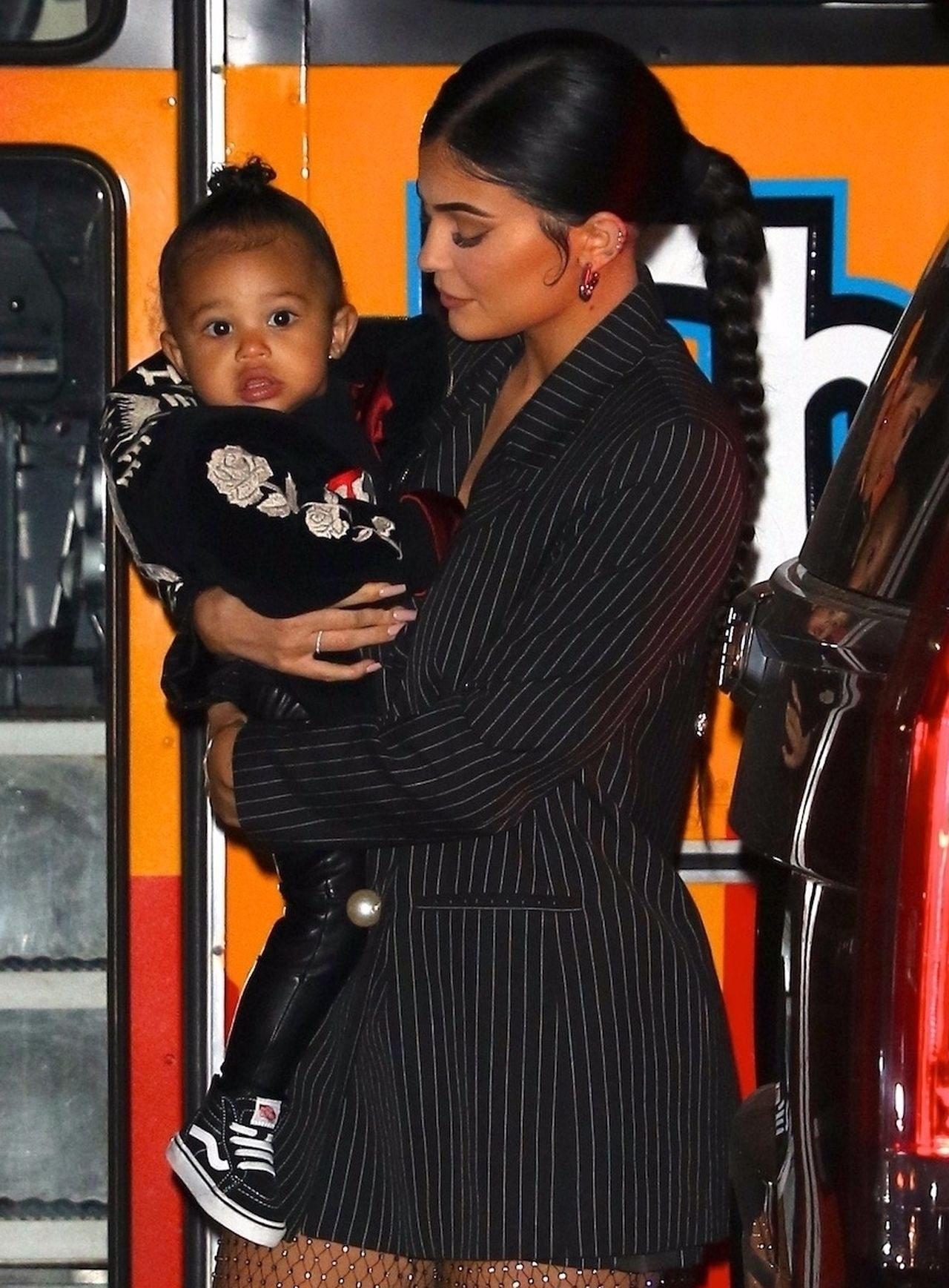 Kylie Jenner takes adorable baby Stormi out to dinner at Nobu in NYC