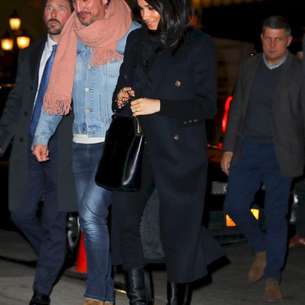 Meghan Markle and Markus Anderson arrive at The Polo Bar in NYC Meghan Markle,Markus Anderson