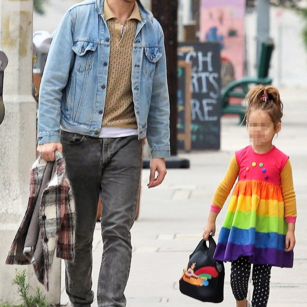 *EXCLUSIVE* Ryan Gosling takes his little rainbow Esmeralda out for a stroll  in Los Angeles Ryan Gosling