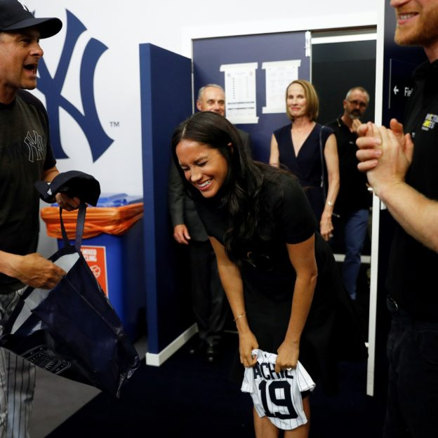 Harry and Meghan watch the Red Sox vs Yankees Baseball