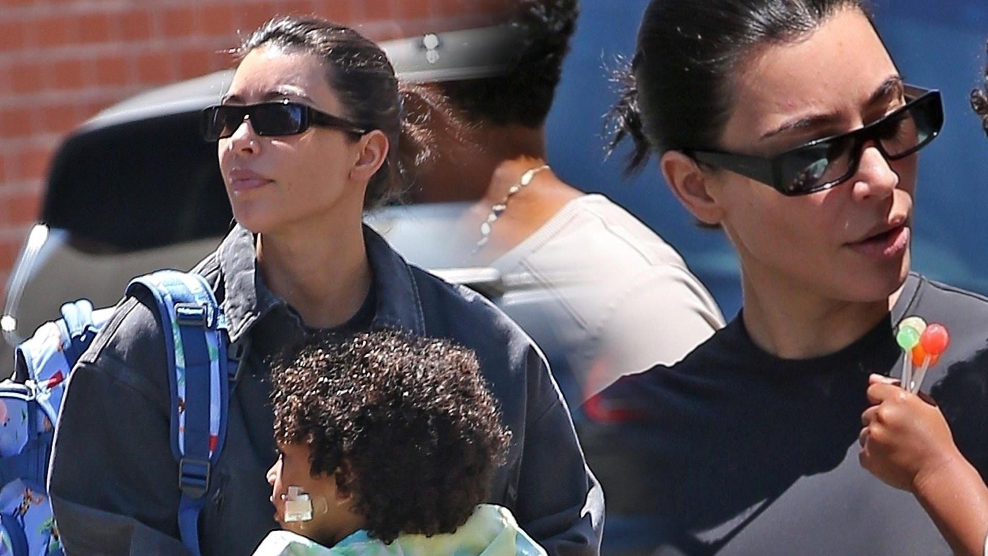 Kim Kardashian na rękach z synem Saintem – niesie go do lekarza (ZDJĘCIA)