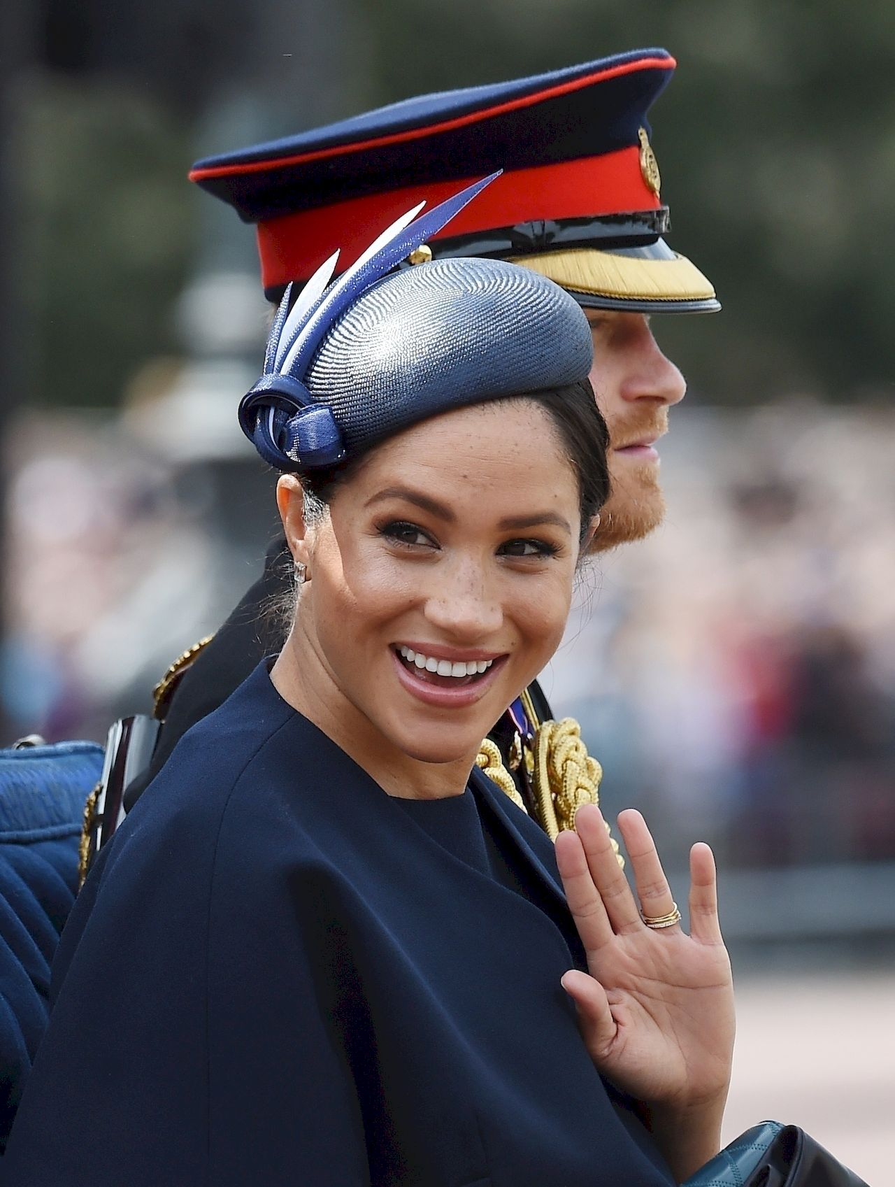 Royals seen attending the Trooping The Colour for the Queen's official birthday parade. / Zed Jameson / BACKGRID , kod: Meghan, Duchess of Sussex, Prince Harry