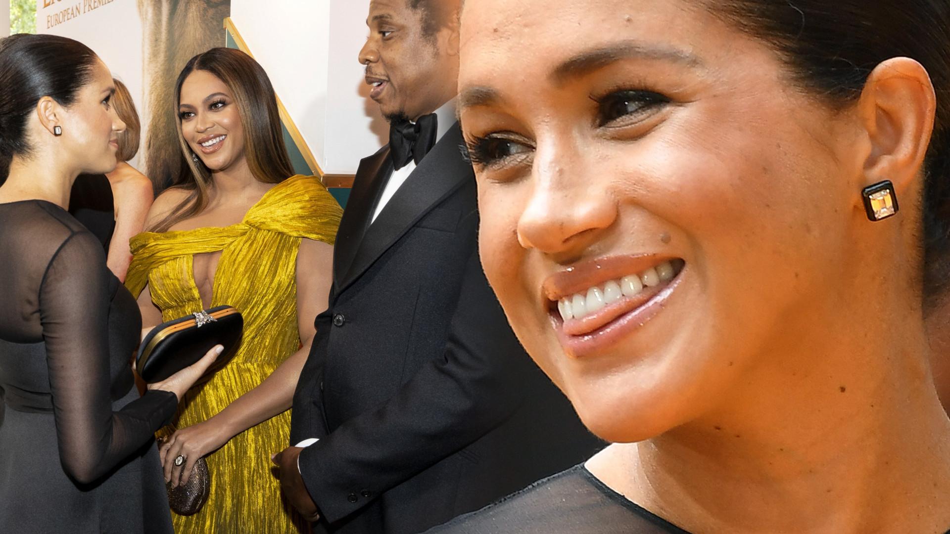 Księżna Meghan i Beyonce przytulają się do siebie na premierze Króla Lwa – przy okazji gwiazda dała księżnej pewną radę