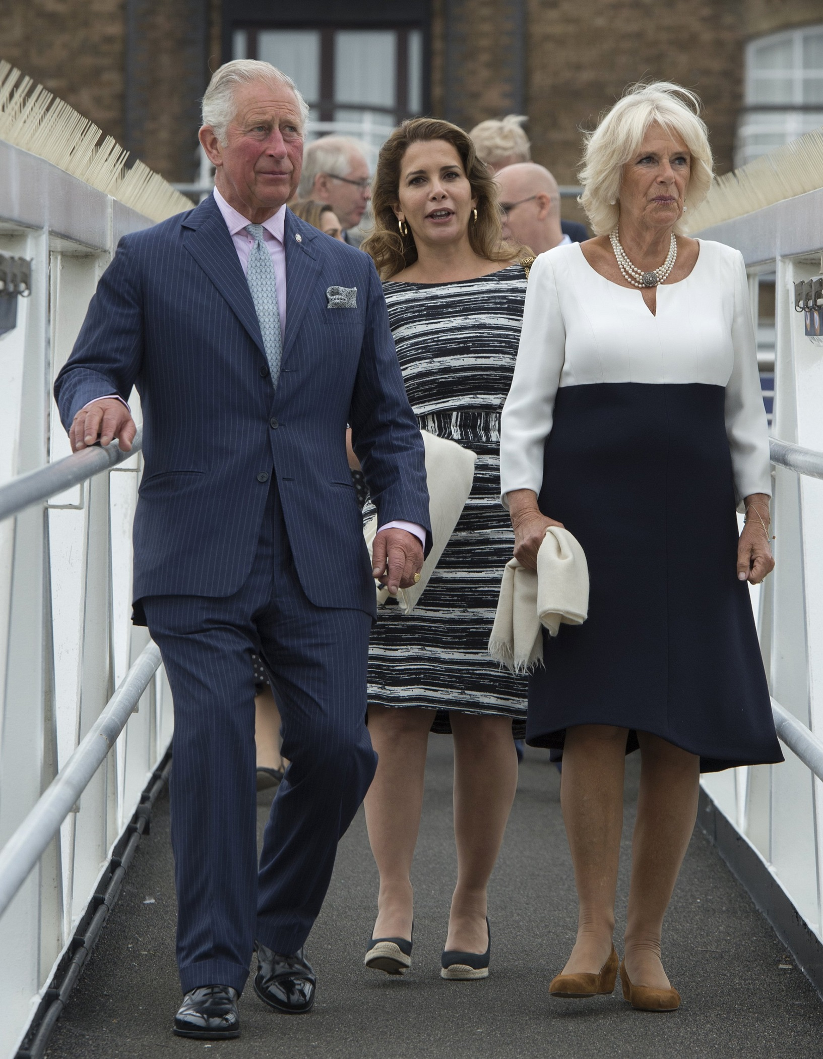 Prince Charles and The Duchess of Cornwall visit the 'Maiden' Yacht