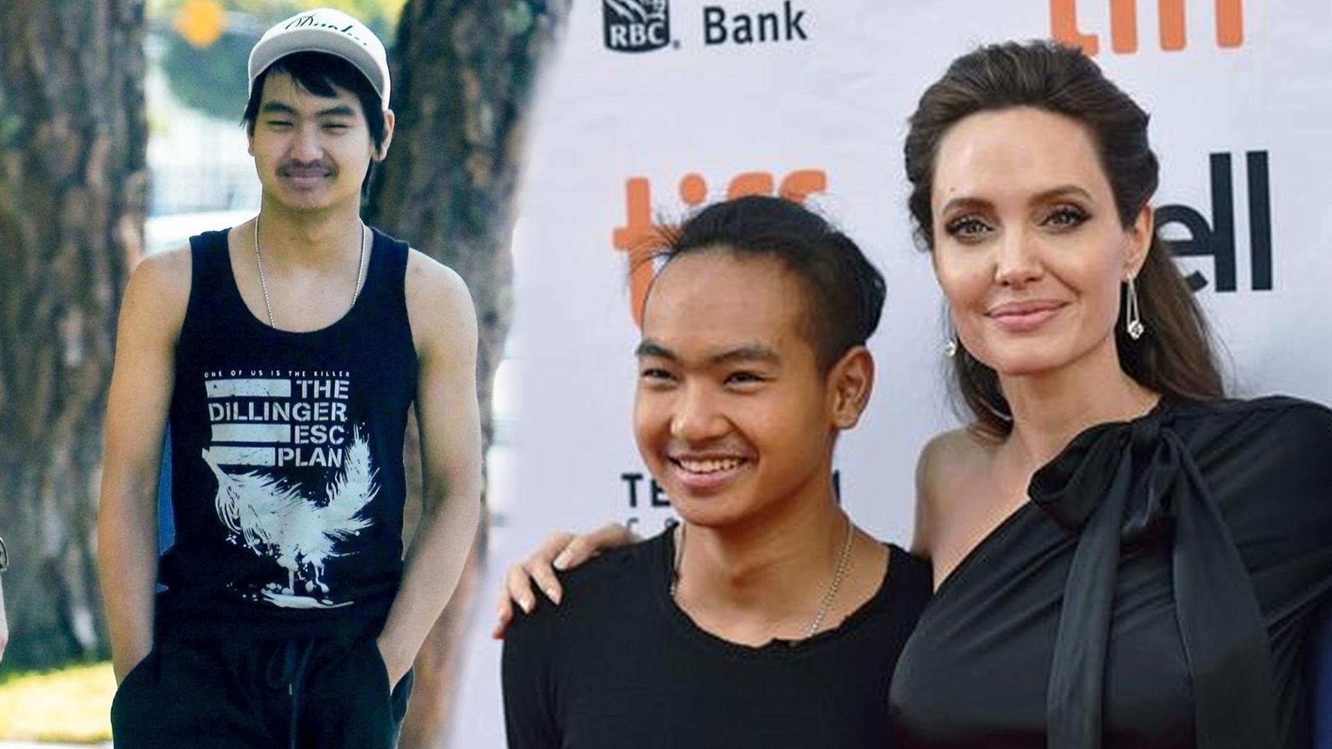 SZOK! Angelina Jolie stara się nie rozpłakać. Zobaczcie co zrobił jej 18-letni syn Maddox!