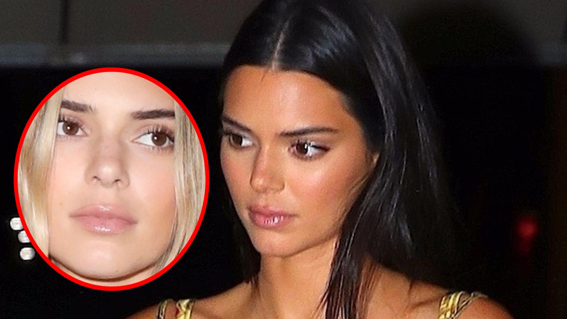 Kendall Jenner zostałą BLONDYNKĄ! Nową fryzurę zaprezentowała na pokazie Burberry (ZDJĘCIA)